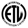 ETL Sanitation Listed - For Commercial Use